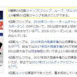 宇野昌磨Wikipediaで4回転5種持ちと捏造!