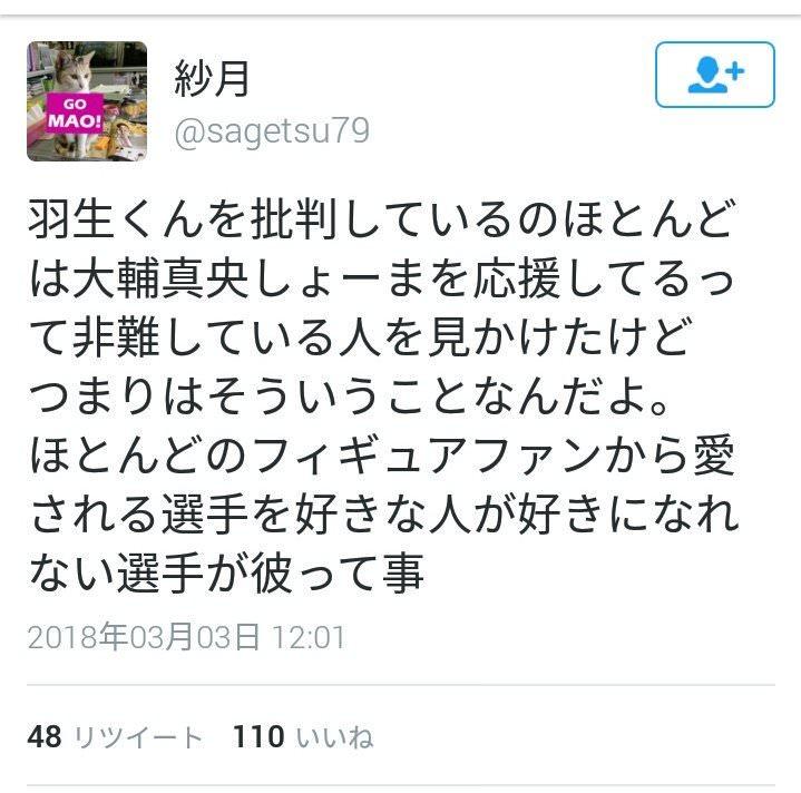 羽生結弦選手のアンチ(高橋宇野浅田ファン)が国民栄誉賞凸