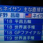 【テレ朝】宇野昌磨「2019世界選手権銀メダル」と捏造
